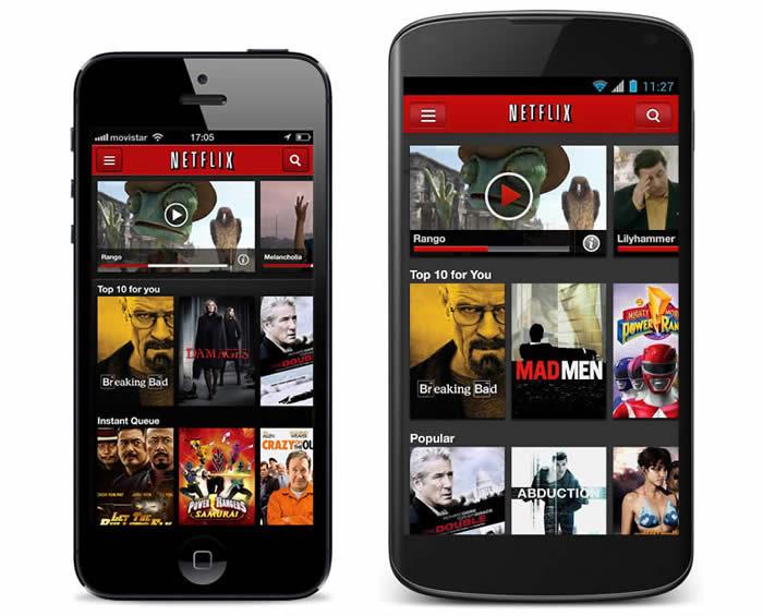 App híbrida de Netflix