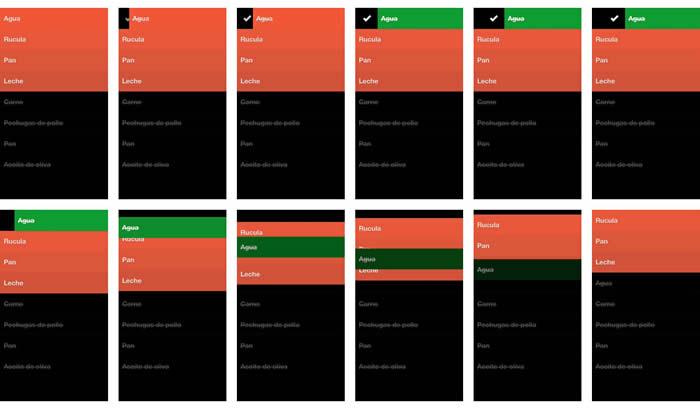 Secuencia de pantallas al completar una tarea en Clear
