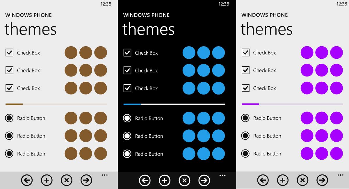 Colores en los temas de Windows Phone