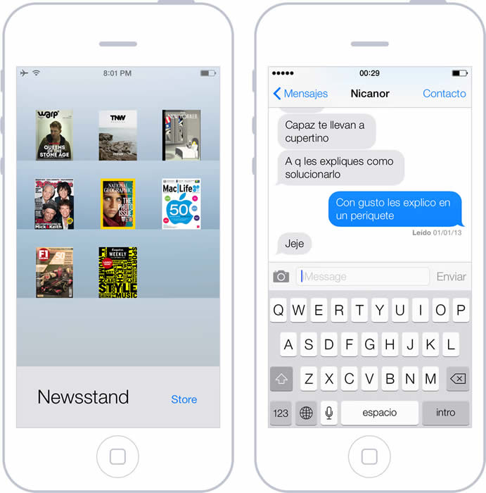 Estilo de diseño visual en iOS7